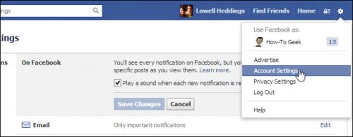 Как отключить звуковые оповещения при получении Facebook-уведомлений