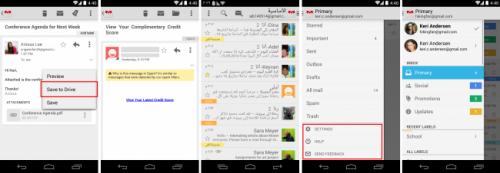 В Gmail для Android теперь можно сохранять вложения напрямую в Google Drive