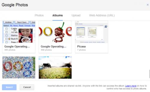 Новый интерфейс вложения картинок в Gmail