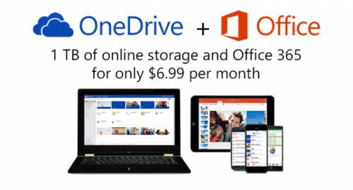 Microsoft OneDrive: 70% снижение цен на дополнительное пространство, 15 ГБ для всех пользователей и 1 ТБ для подписчиков Office 365