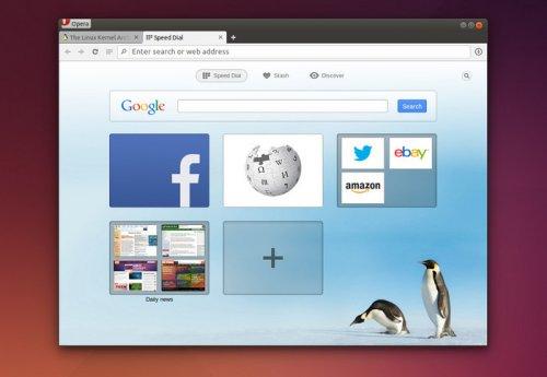 В Web-браузере Opera 24 обеспечена поддержка платформы Linux