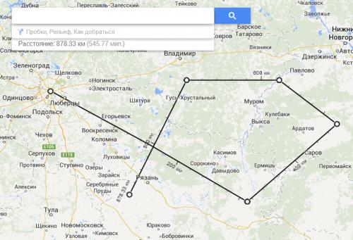 Карты Google Maps научились показывать расстояние между точками