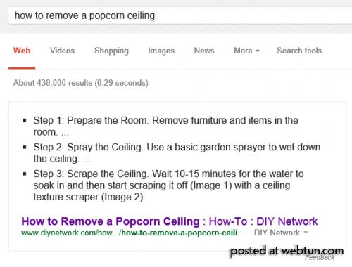 Google показывает пошаговые инструкции