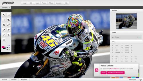Picozu — браузерный редактор для создания и обработки изображений