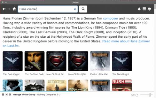 Listen! — музыкальный проигрыватель для Chrome на базе Вконтакте,  Google Drive и Last.FM