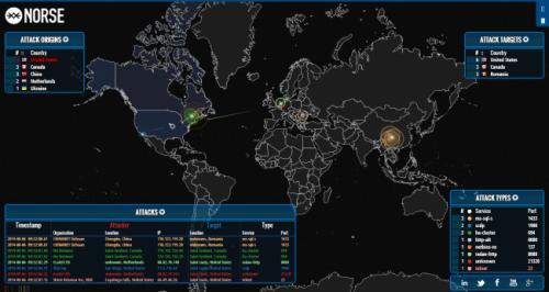 Карта DDoS атак