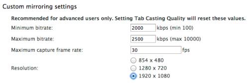 В бета-версии расширения Google Cast для Chromecast добавлена поддержка передачи потокового видео в формате 1080p