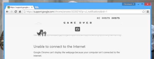 Google встроила в Chrome мини-игру для развлечения в отсутствии Сети