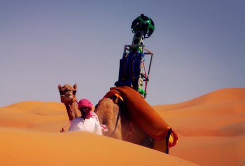 Съёмка для Google Street View переместилась в пески ОАЭ