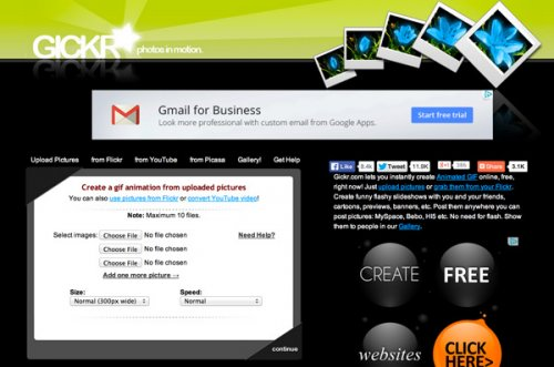 Подборка веб-сайтов для бесплатного создания анимированных GIF
