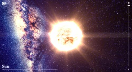 Сайт позволяющий исследовать нашу галактику в браузере