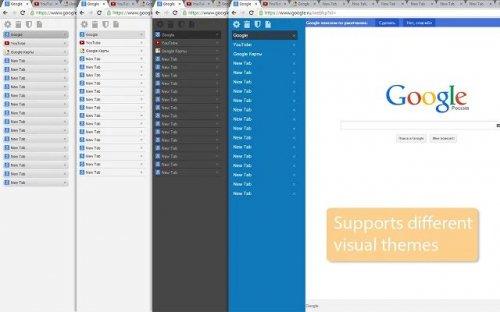 vTabs – вертикальная панель вкладок в Chrome