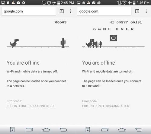 Мини-игра с динозавром доступна в последней бета-версии Chrome для Android