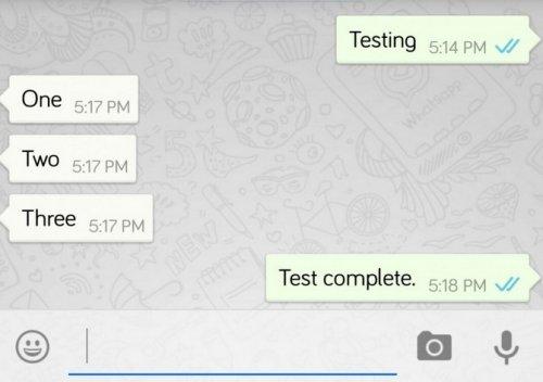 В WhatsApp для Android и iOS появился индикатор прочитанных сообщений