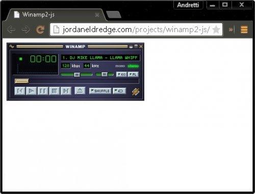 Winamp 2 сохранили как HTML5 приложение