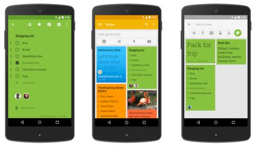 В Google Keep появилась возможность совместной работы над заметками
