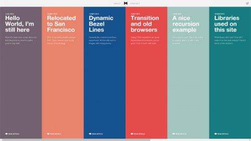 Примеры 20 невероятных таймлайнов в веб-дизайне