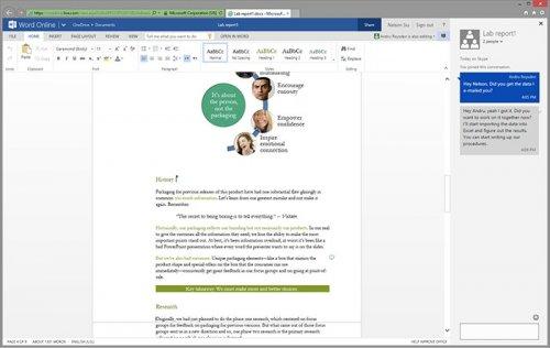 Microsoft добавила поддержку Skype в веб-приложения Office Online