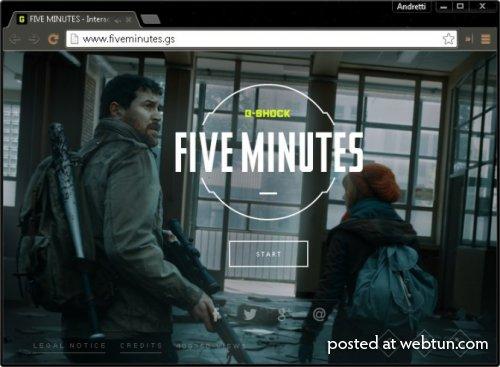 Five Minutes – интерактивная браузерная игра, в которой вам надо спастись от зомби
