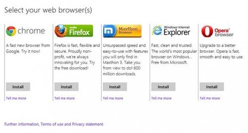 Microsoft прекращает демонстрацию окна выбора браузера в европейских версиях Windows
