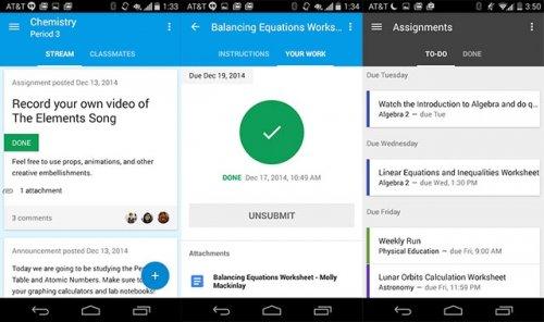Служба Google «Класс» получила мобильные приложения для Android и iOS