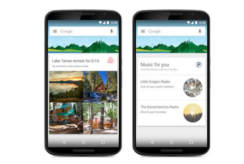 В Google Now для Android появилась поддержка сторонних приложений