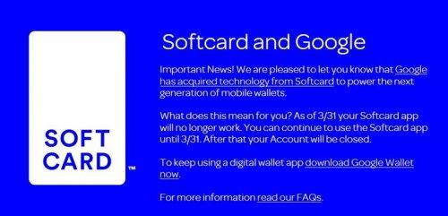 Google назвала дату закрытия платежного сервиса Softcard