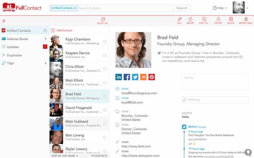 Как упорядочить контакты из социалок и узнать больше об отправителе письма Gmail с FullContact