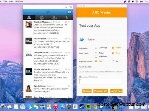 Google представила Chrome-расширение, позволяющее запускать ПО для Android на настольных ОС