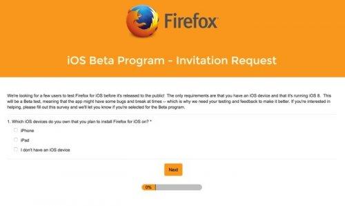 �������� ����-������������ Firefox ��� iOS