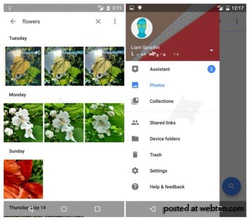 Появились скриншоты нового сервиса Google Photos для Android