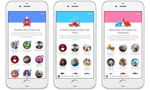 Facebook разрешила пользователям управлять приоритетами своей новостной ленты