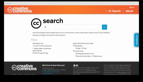 CC Search — новая система для поиска бесплатных изображений
