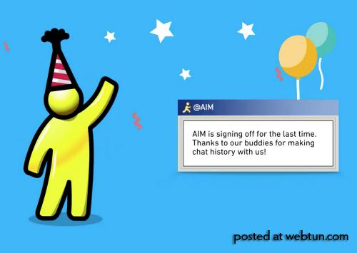 Закрыли мессенджер AIM (AOL Instant Messenger), проработавший в онлайне более 20 лет